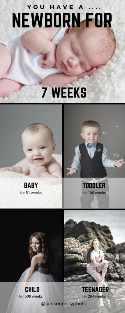 infographic showing how many weeks each phase of childhood is