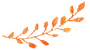 orange watercolour effect branch of leaves as an icon