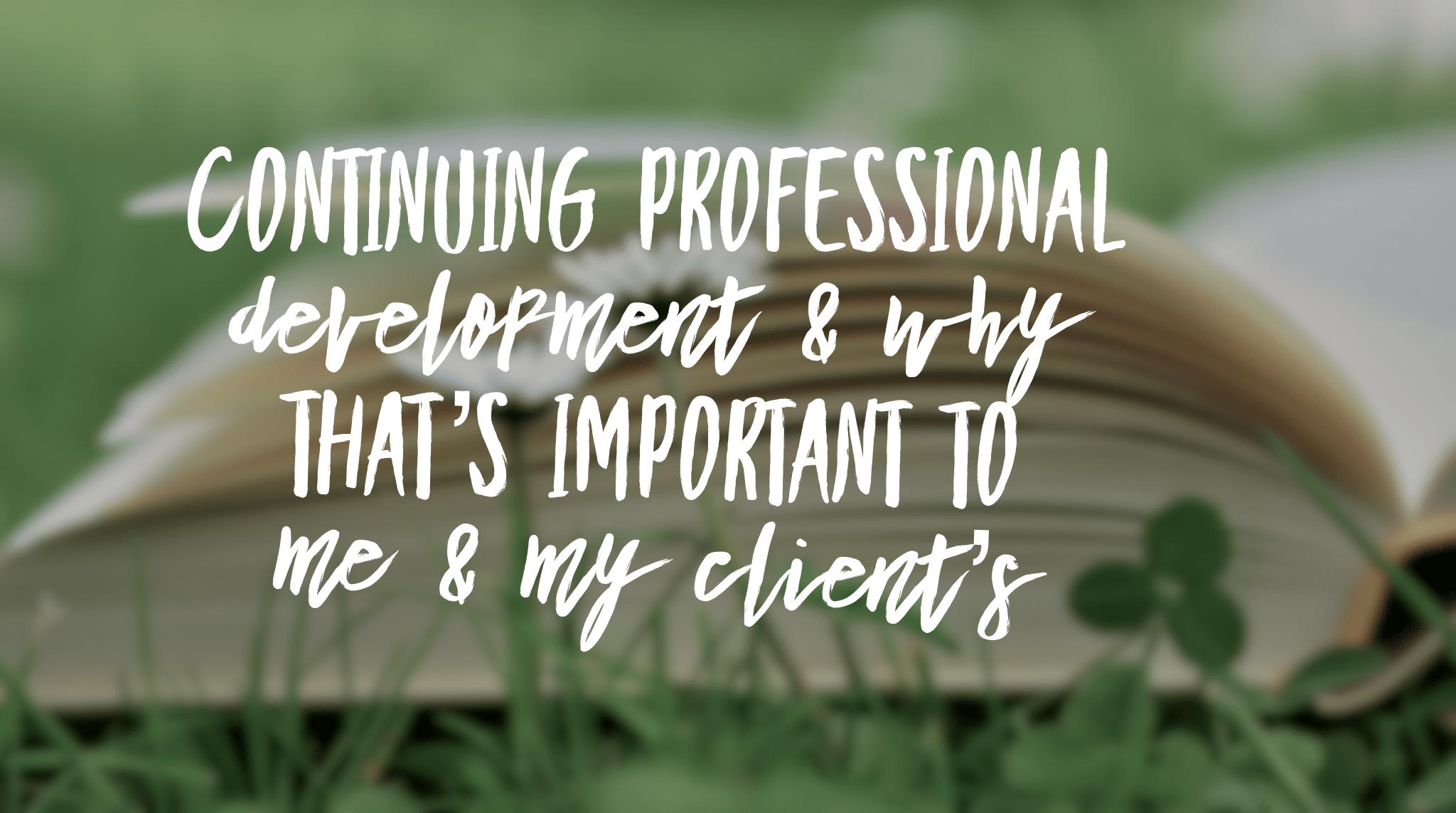 Continuing professional development blog title header