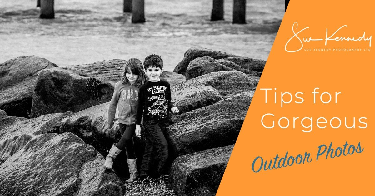 Blog image header for article on tips for gorgeous outdoor photos