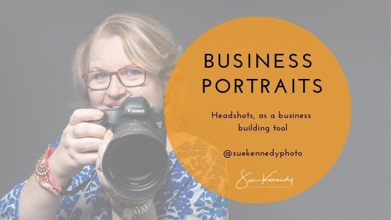 Business Portraits, Headshots, as a business-building tool