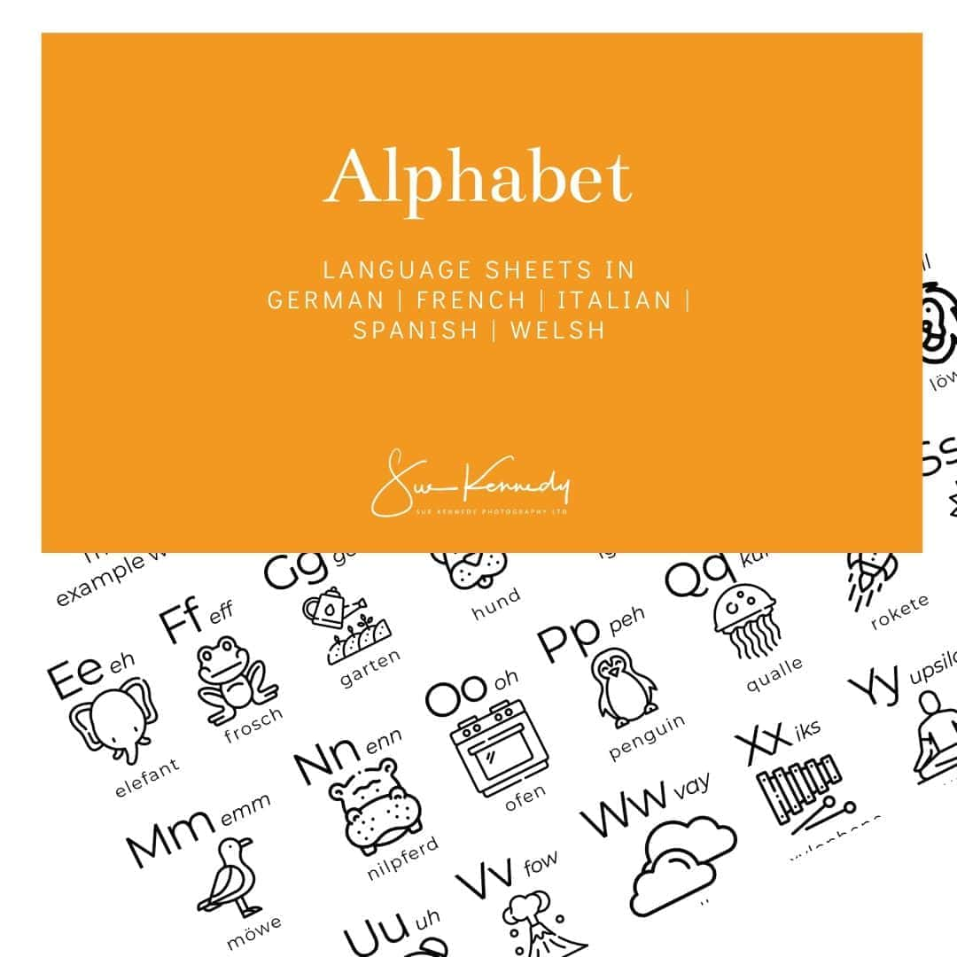 heading image for alphabet download in 5 languages