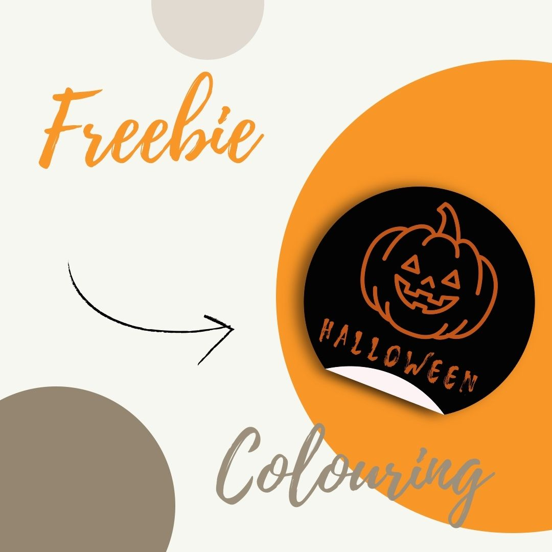 Colouring Activity graphic for halloween