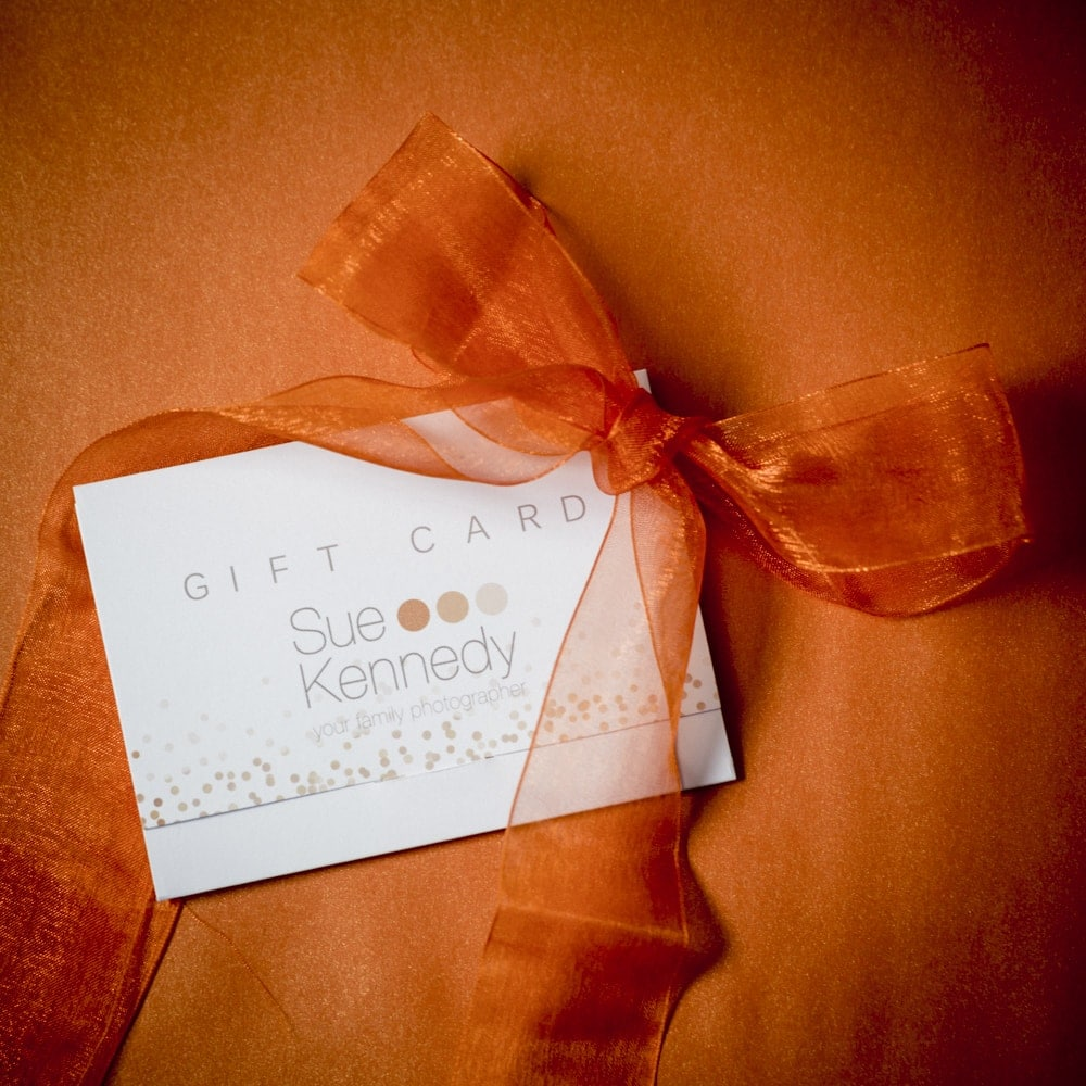 Photography gift voucher product shot