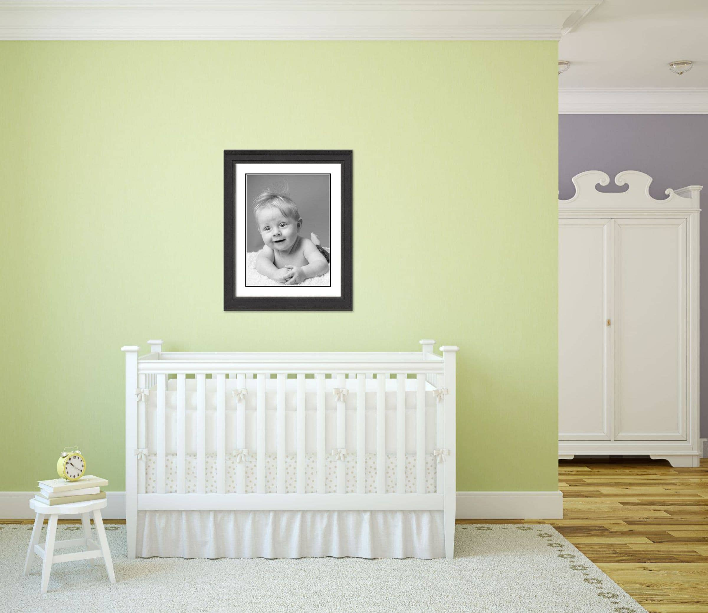 example of a framed photo in a nursery room setting