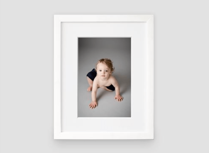 Product shot of a matted framed print