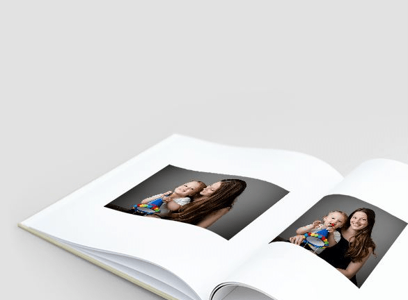 product image of an open portrait book