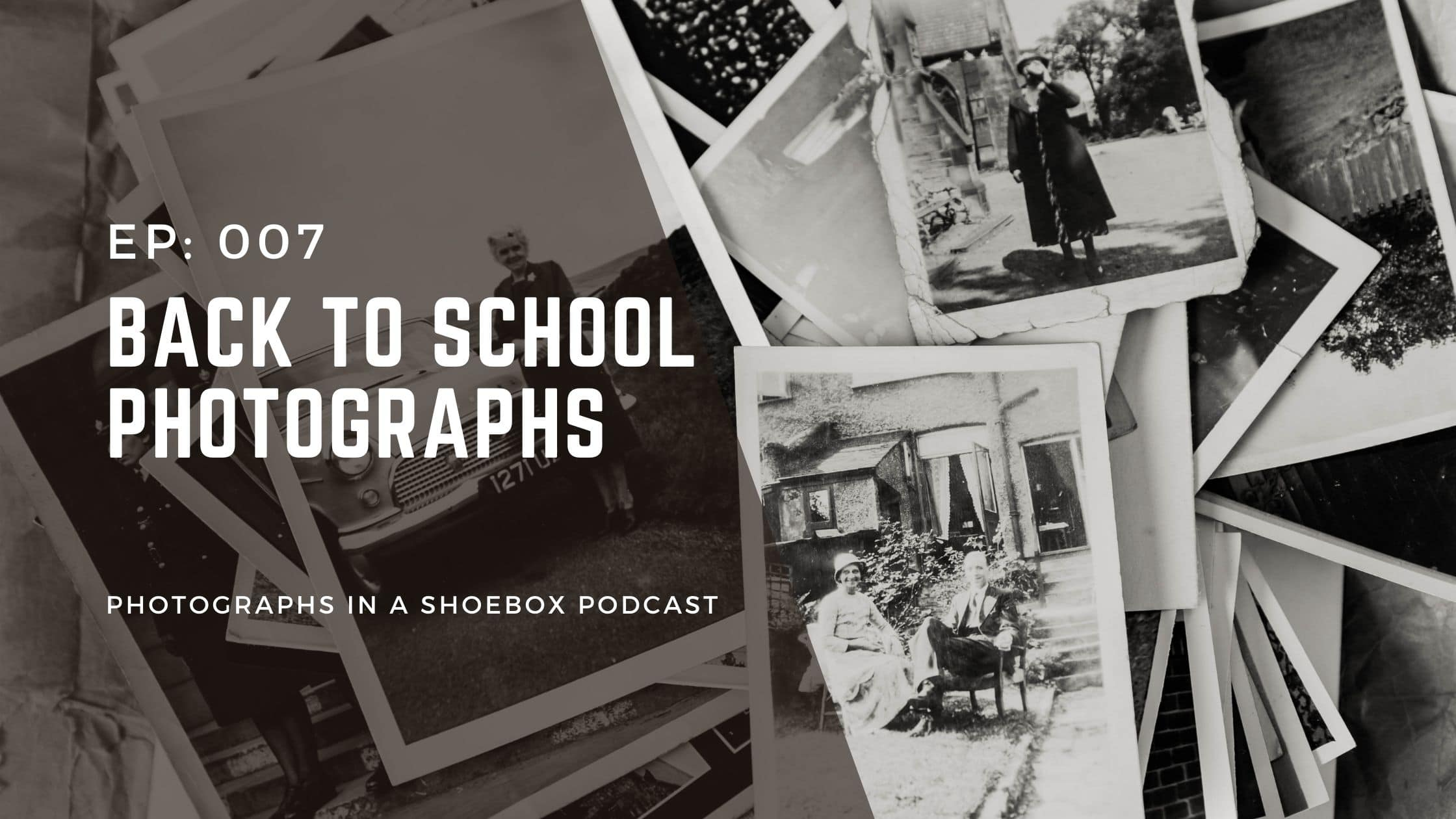 Podcast episode art work - back to school photos